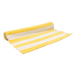 Dwell Studio Yellow & White Dhurrie Runner