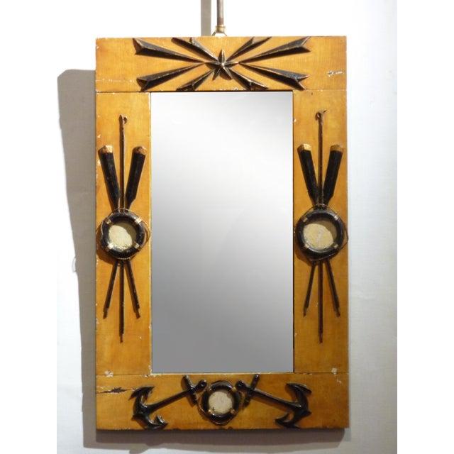 Folk Art Nautical Mirror - Image 2 of 4