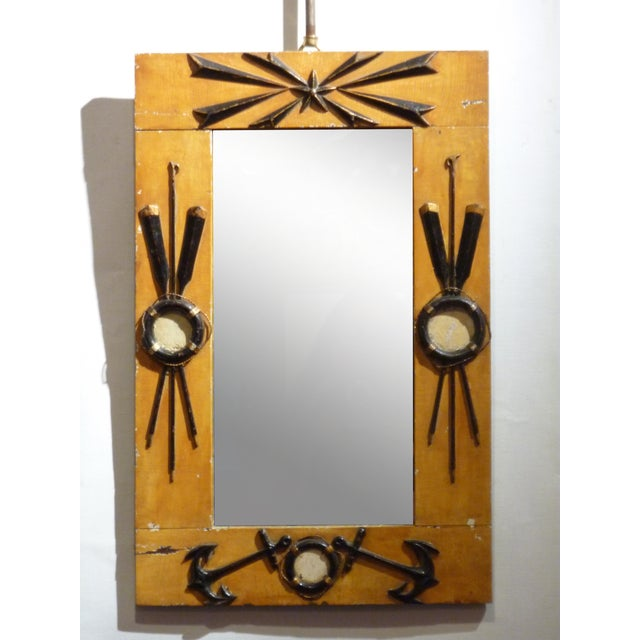 Image of Folk Art Nautical Mirror