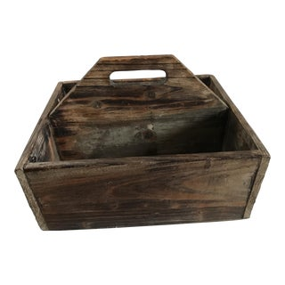 Rustic Farmhouse Wood Caddy Box