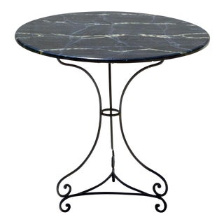 Faux Marble Top Garden Bistro Center Table