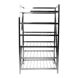 Chrome and Glass Shelving Unit