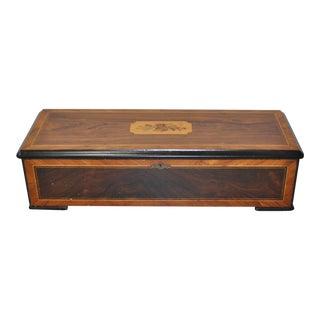 Late 19th C. Music Box w/ Inlay