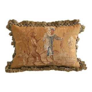 Dancing Monkeys Aubusson Pillow