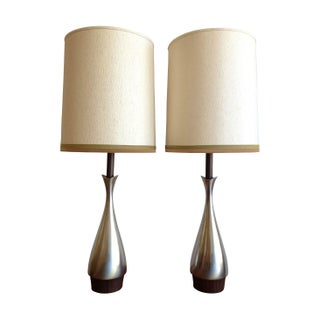 Pewter Table Lamps By Laurel - A Pair