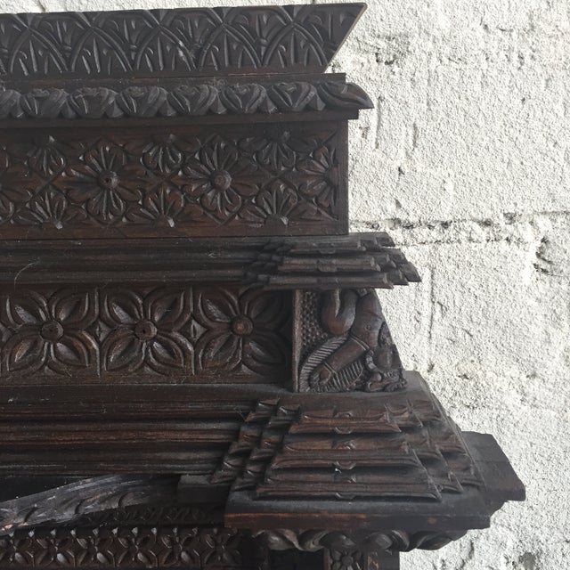 Hand Carved Nepalese Mirror - Image 6 of 8