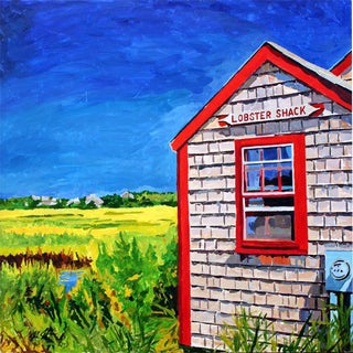 Contemporary Acrylic Nantucket Series #3 Painting