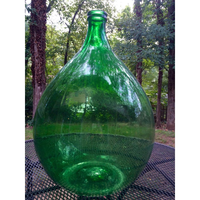 Vintage Italian Green Glass 54 Liter Demijohn - Image 3 of 7