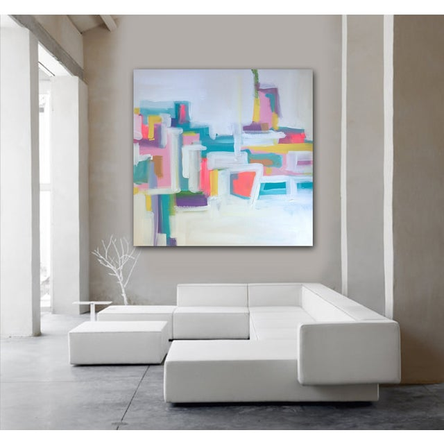 'Pow Wow' Original Abstract Painting - Image 2 of 7