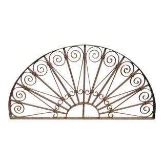 Antique Victorian Iron Garden Gate Window Element
