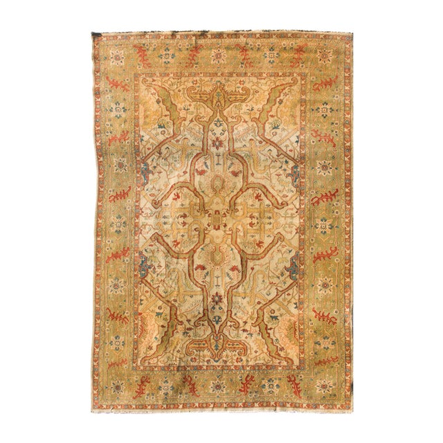 """Vintage Hand Knotted Rug - 8'6"""" X 12' - Image 1 of 4"""