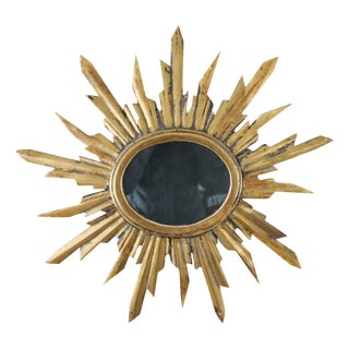18th Century Italian Carved Gilt Sunburst Mirror