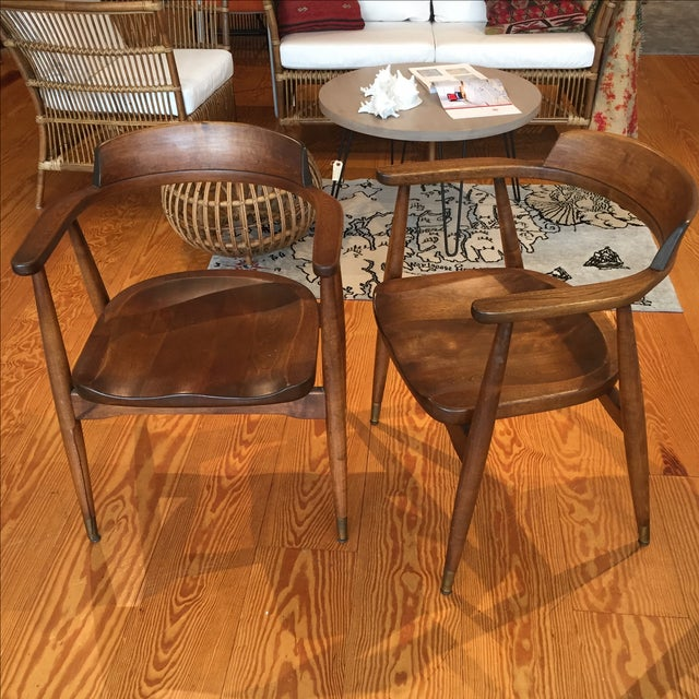 Mid-Century Captain's Chairs - A Pair - Image 2 of 10