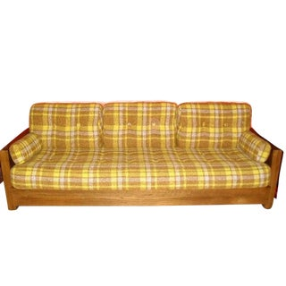 1970s Howard Furniture Plaid Sofa