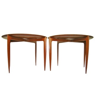 A Pair of Mid-Century Danish Modern Teak Tray Tables Engholm & Willumsen for Fritz Hansen