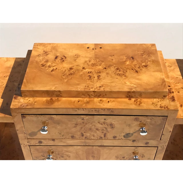 Biedermeier Olive Burl Chest of Drawers - Image 6 of 10