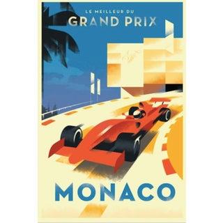 Monaco Grand Prix Comtemo/Retro Design Poster