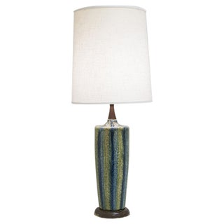 1960s Mid-Century Glazed Table Lamp