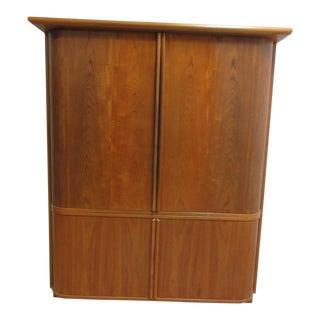 Vintage Danish Modern Teak Tambour Cabinet