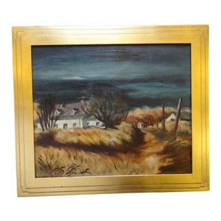 California Farm House Oil Painting by Alfred C. Ybarra