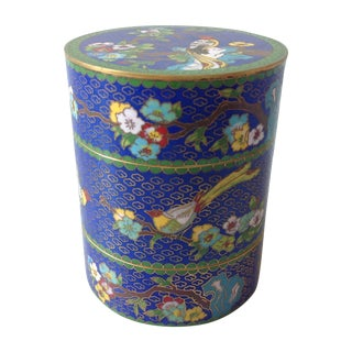 Antique Chinese Cloisonné Stacking Container