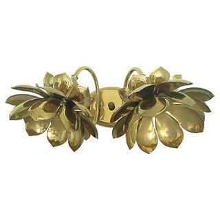 Feldman Double Lotus Brass Sconce