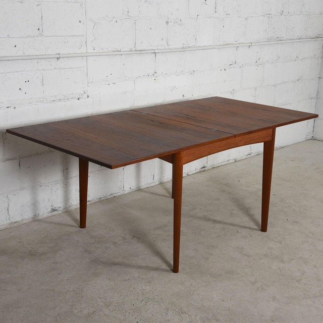 Danish Modern Teak Square to Rectangle Dining / Game Table - Image 5 of 7