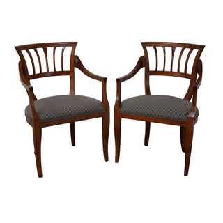 Baker Milling Road Biedermeier Style Chairs - Pair