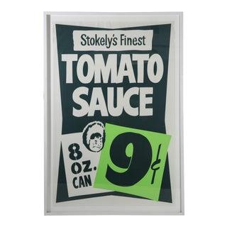 """Framed Vintage Supermarket Poster - """"Tomato Sauce"""""""