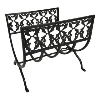 Vintage Wrought Iron Fireplace Log Holder