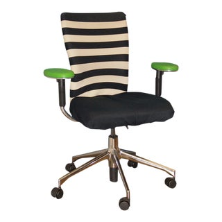 Black, White & Green T-Chair by Vitra