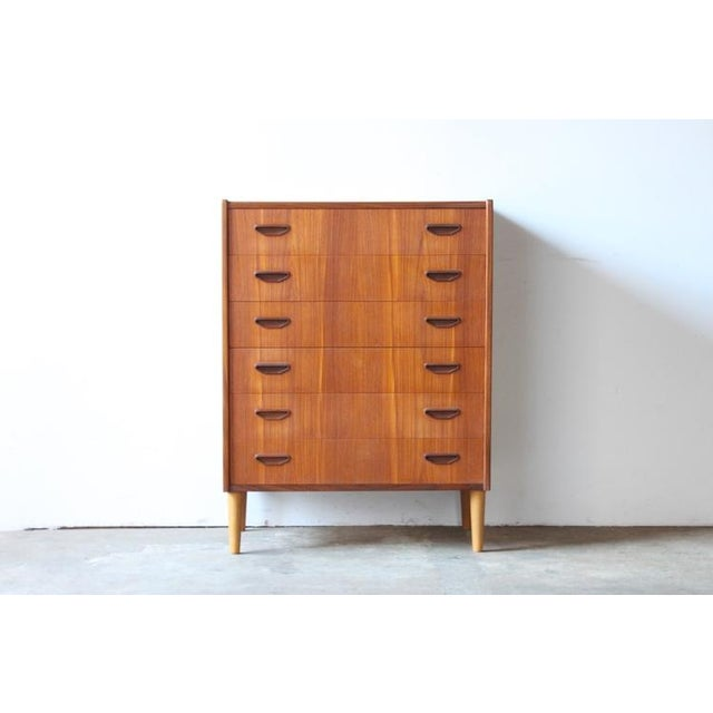 Image of Mid-Century Danish Modern Teak Highboy Dresser