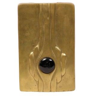 Mid-Century Modern Linear Brass Vase