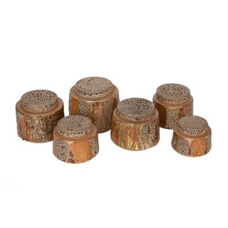 Edna Arnow Pottery Ceramic Canisters - Set of 6