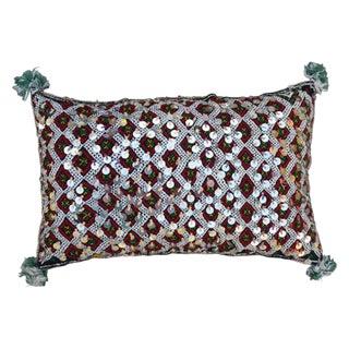 Diamond Pattern & Sequins Moroccan Berber Pillow