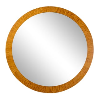 Post Modern Parquetry Prima Vera Mirror by Charles Pfister for Baker Furniture Co.