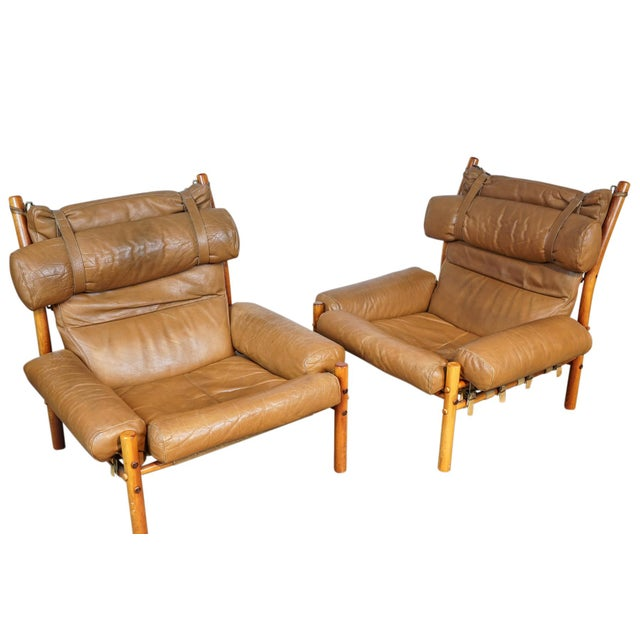Image of Arne Norell Inca Chairs - A Pair