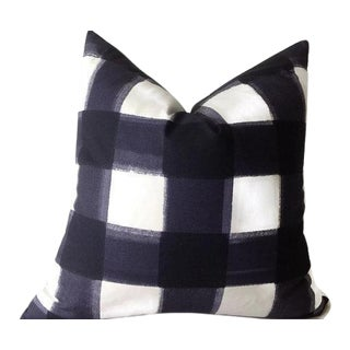 Blue Buffalo Check Pillow Cover