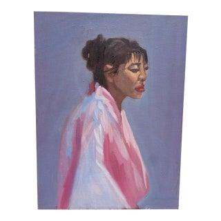 Vintage Portrait of a Woman in Silk Robe