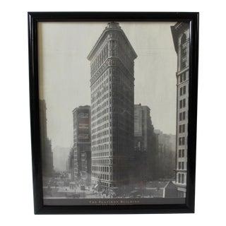Vintage Iconic New York Flatiron Building Framed Poster