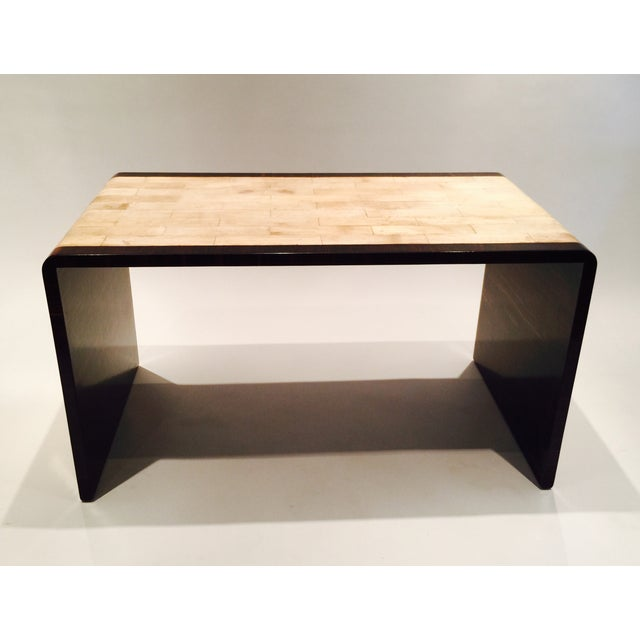 Image of Parchment & Macassar Cocktail Table