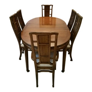 Solid Mahogany Dining Room Set - Set of 7