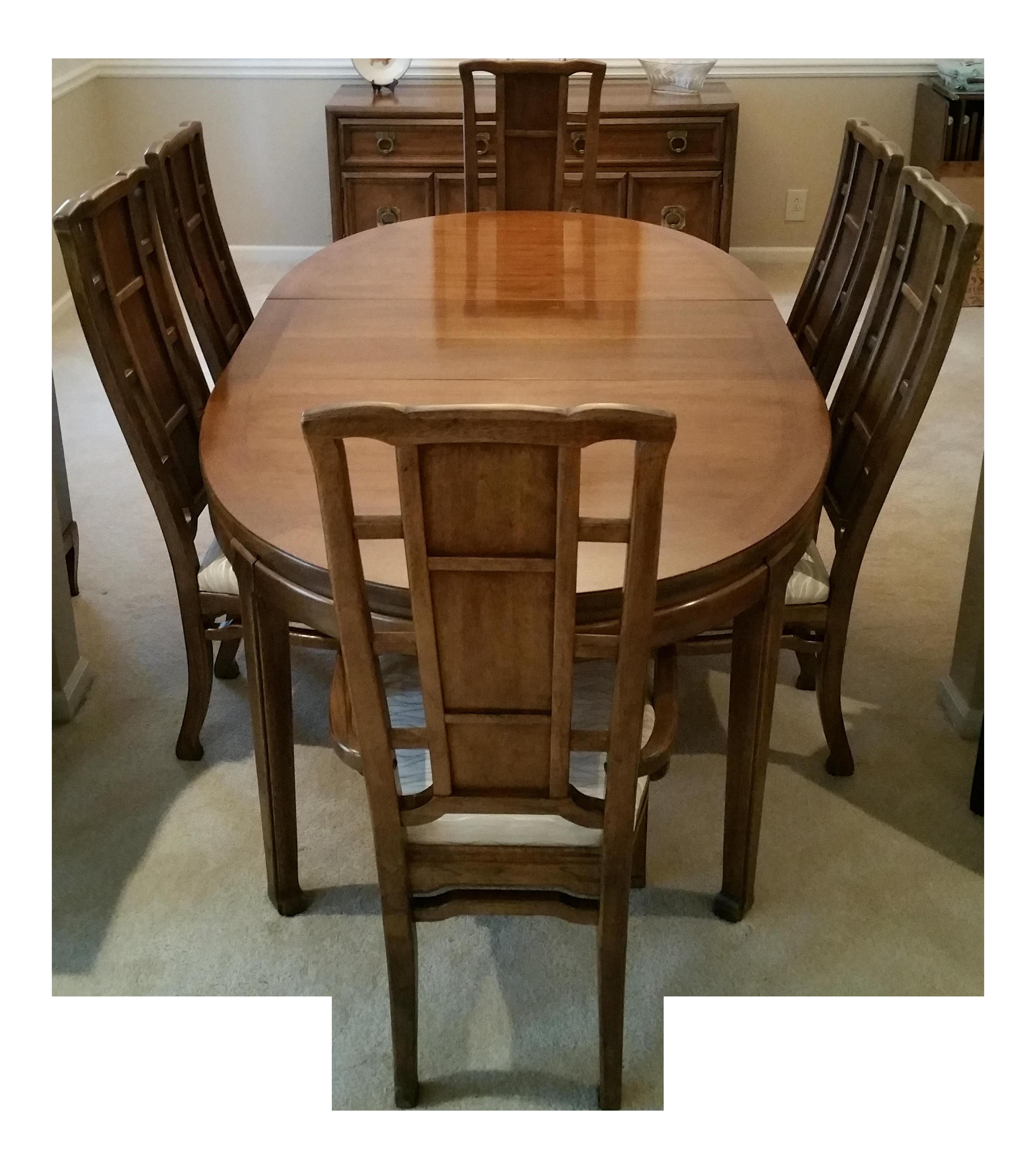 Solid Mahogany Dining Room Set   Set Of 7