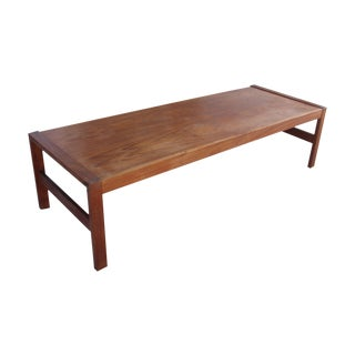 Long Rectangular Cocktail Table in Solid Teak
