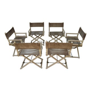 McGuire X Base Brass Campaign Director's Chairs - Set of 6