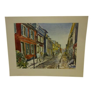 "Phil Austin ""Elfreth's Alley"" United Airlines Print"
