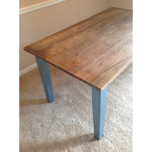 Blue Farmhouse Table - Image 4 of 8
