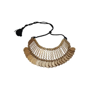 Tribal Indian Gold Coins Necklace