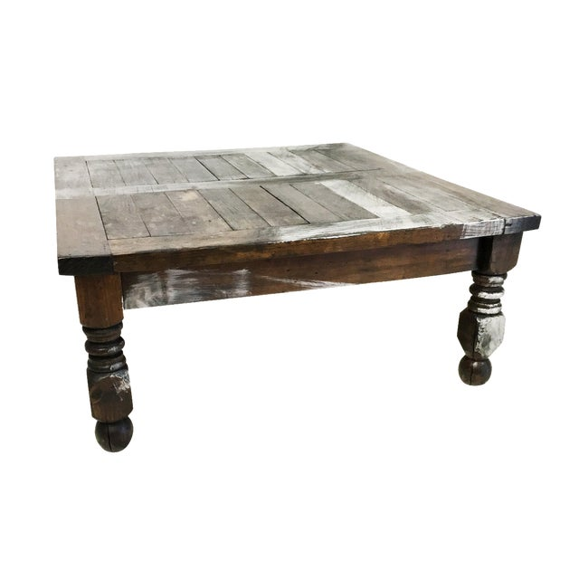 Vintage Mexican Hand Painted Pine Coffee Table - Image 1 of 7