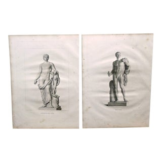 16 Engravings of Classical Figures and Nudes, Early 19th Century